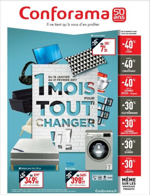 Nouveau Catalogue Conforama 2017 : 1 mois pour tout changer !