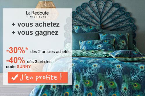 Avec La Redoute Interieurs, mettez le linge de maison aux couleurs de l'été !