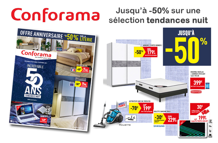 Cliquez ici pour feuilleter le nouveau catalogue Conforama