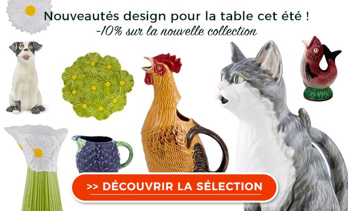 Bordallo Pinheiro : nouveauté ! De l'art de table coloré et original pour cet été !
