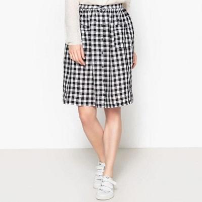 Découvrir la jupe vichy de la Brand boutique La Redoute