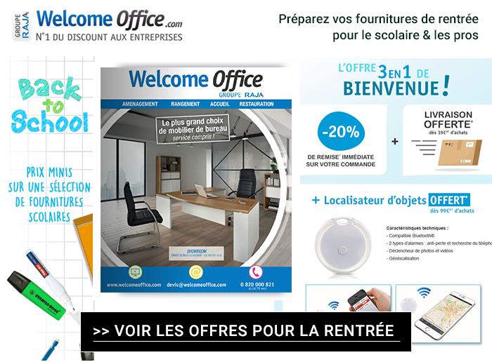 Welcome Office : préparez la rentrée à petits prix + 1 cadeau Offert !