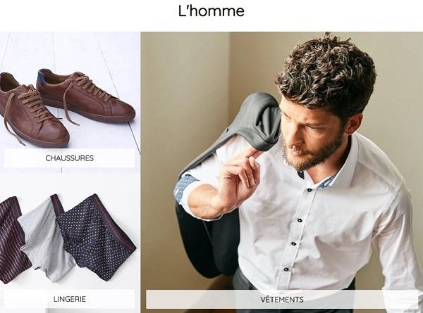 Cliquez ici pour accéder aux vêtements homme La Redoute Collections