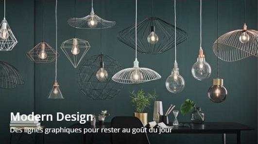 Voir les luminaires Modern Design de chez Maisons du Monde