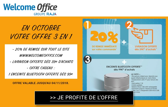 Welcome Office : vous gâte avec de nouveaux cadeaux !
