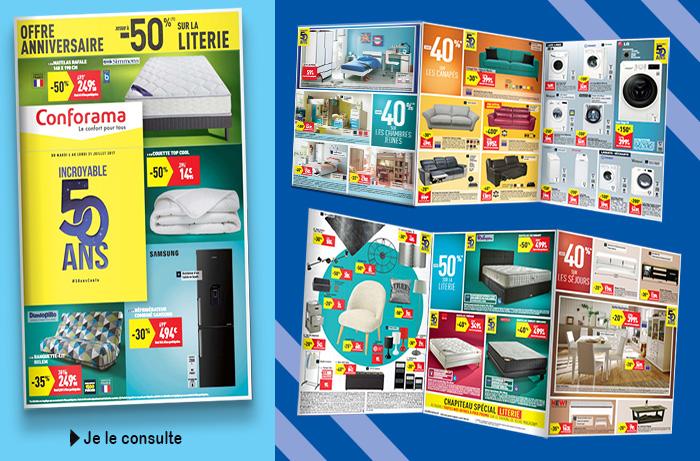 Nouveau catalogue Conforama : soldes anniversaire 50ANS