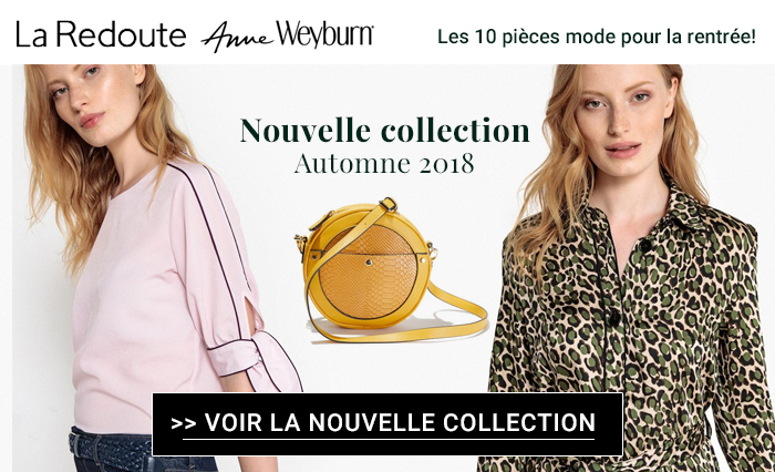 La Redoute, Anne Weyburn : nouvelle collection mode automne 2018
