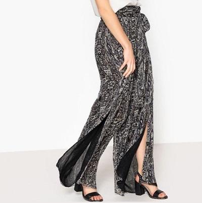 Voir le pantalon large avec fente de la de la Brand boutique La Redoute