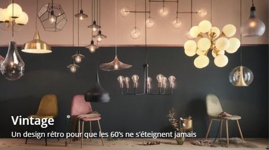 Cliquez ici pour découvrir les luminaires style vintage de chez Maisons du Monde
