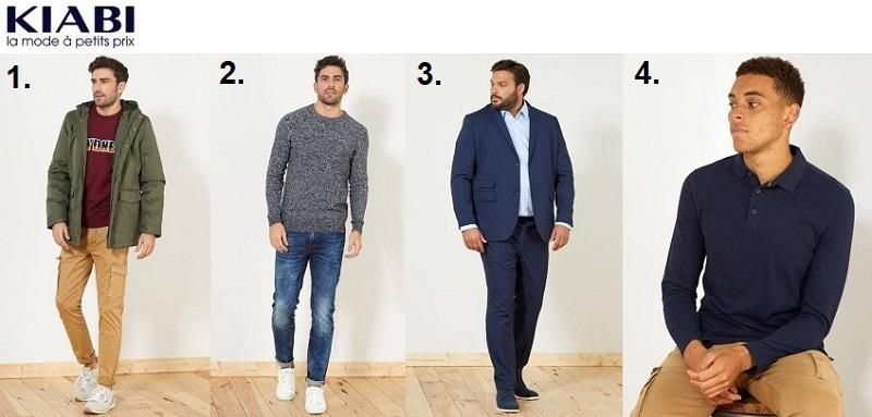 Voir les vêtements pour homme Kiabi
