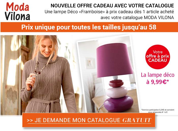 Moda Vilona : Recevez gratuitement le catalogue + votre cadeau gratuit !