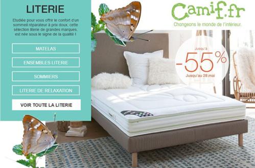 camif jusqu 39 55 de r duction sur tout le linge de maison. Black Bedroom Furniture Sets. Home Design Ideas