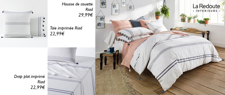 avec la redoute interieurs mettez le linge de maison aux couleurs de l 39 t. Black Bedroom Furniture Sets. Home Design Ideas