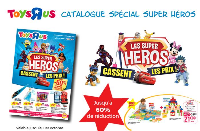 Feuilletez le nouveau catalogue spécial Super Héros