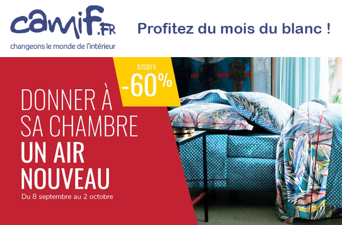 catalogue camif promo jusqu 39 60 sur vos parures de lit. Black Bedroom Furniture Sets. Home Design Ideas