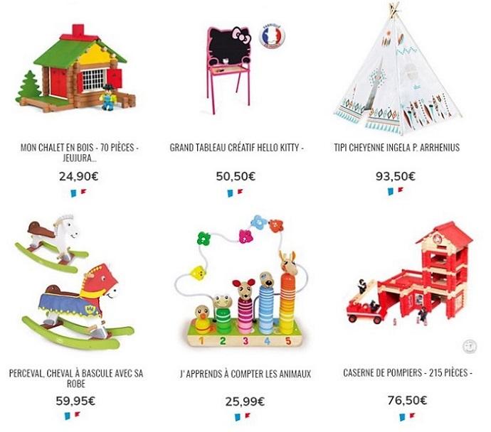 Cliquez ici pour voir les jeux et jouets en bois Camif