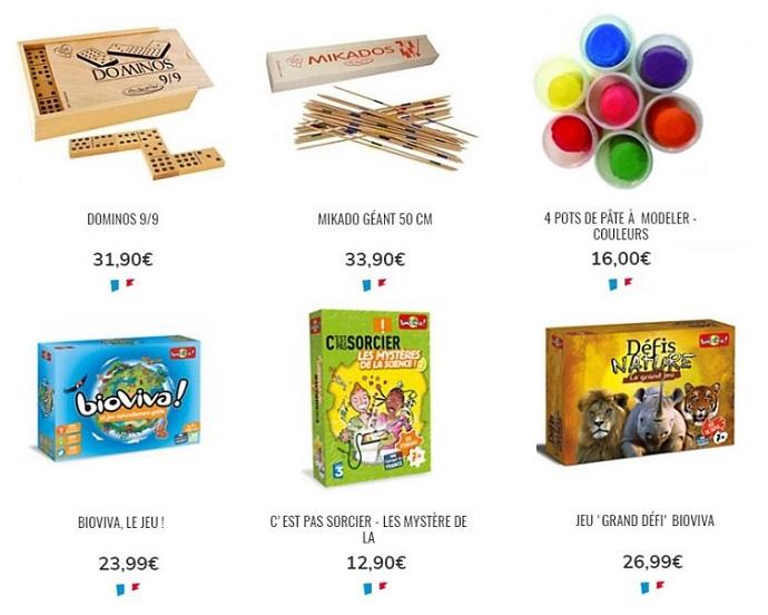 Cliquez ici pour voir les jeux de construction et de société Camif