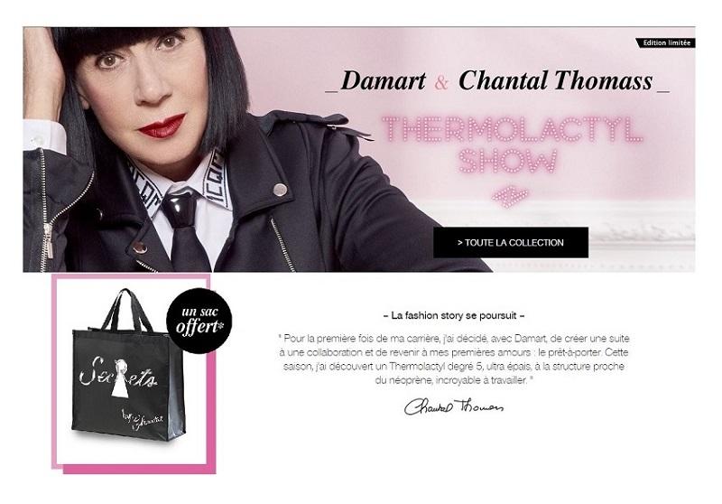 Damart : collection capsule avec Chantal Thomass + 1 cadeau Offert