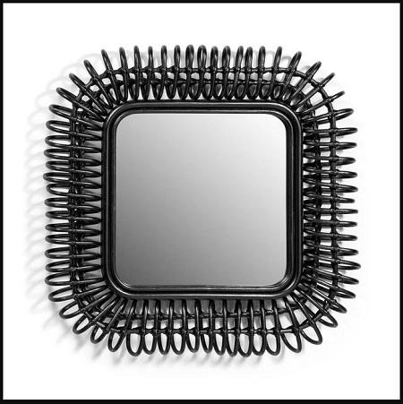 Voir le Miroir en rotin carré, Tarsile de chez AM.PM