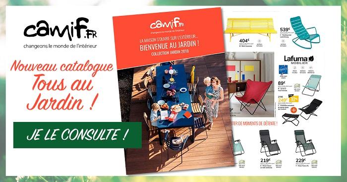 Cliquez ici pour feuilleter le catalogue Camif Jardin 2018