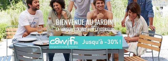 Cliquez ici pour voir les meubles d'extérieurs en promotion de chez Camif