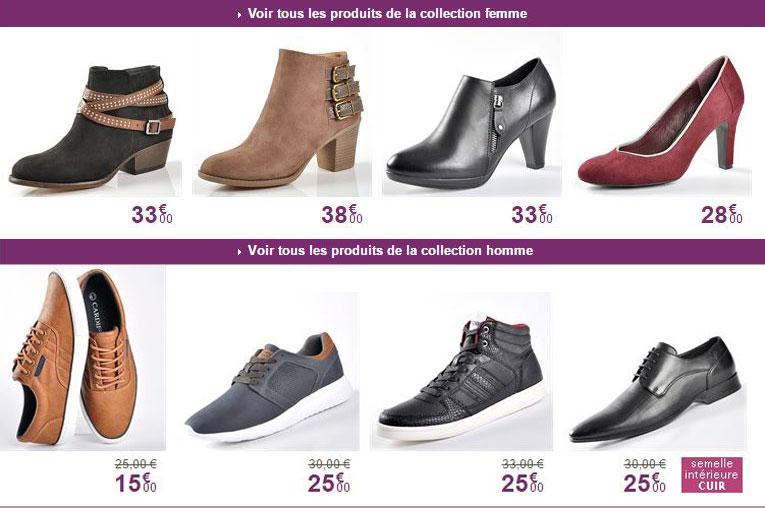 a1c818395e Je clique ici pour voir toutes les collections de chaussures Homme et Femme  ...