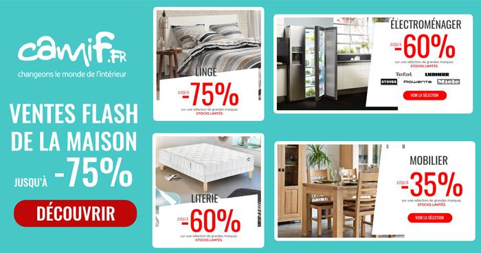 camif grande vente flash 75 sur la maison. Black Bedroom Furniture Sets. Home Design Ideas
