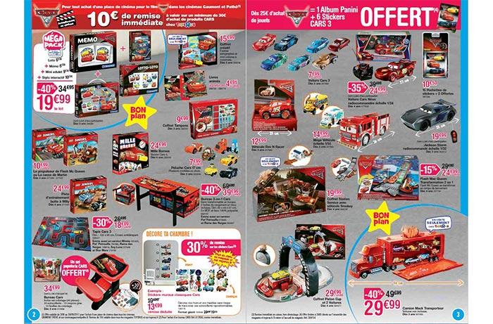 Cliquez ici pour voir la collection de jeux et jouets Cars 3