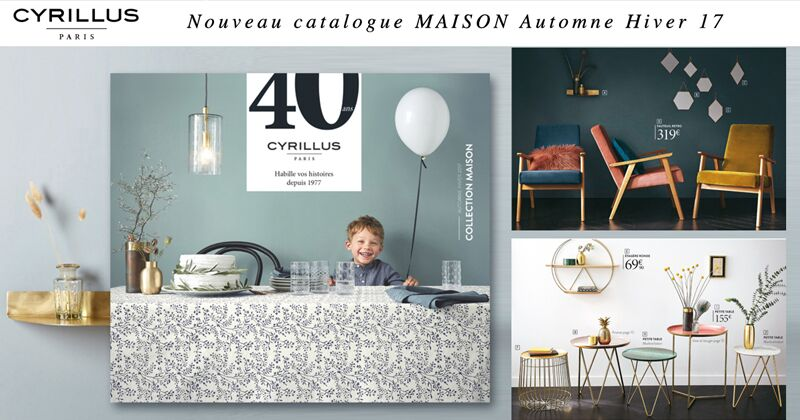 nouveau catalogue cyrillus maison automne hiver 2017. Black Bedroom Furniture Sets. Home Design Ideas