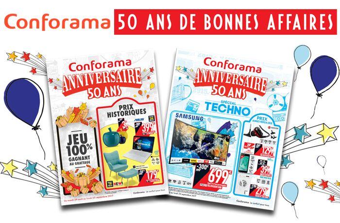 Cliquez ici pour consulter les 2 nouveaux catalogue Conforama Anniversaire 50 ans