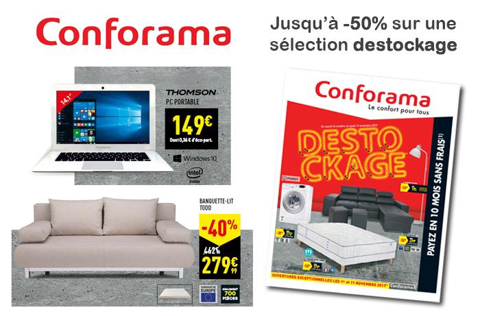 Conforama : Catalogue destockage avec des réductions jusqu\'à -50% !