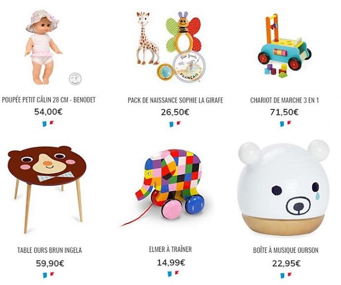 Cliquez ici pour voir les jeux, jouets et doudous premier âge Camif