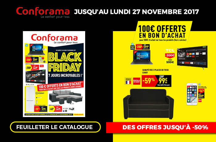 Conforama : d'incroyables promo dans son catalogue Black Friday !