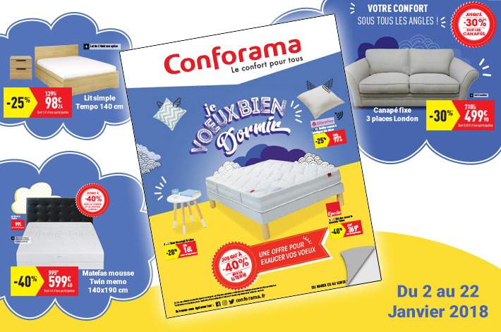Cliquez ici pour feuilletez le Catalogue Conforama