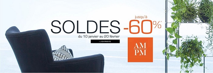 am pm soldes meubles d 39 hiver jusqu 39 80 trop top. Black Bedroom Furniture Sets. Home Design Ideas
