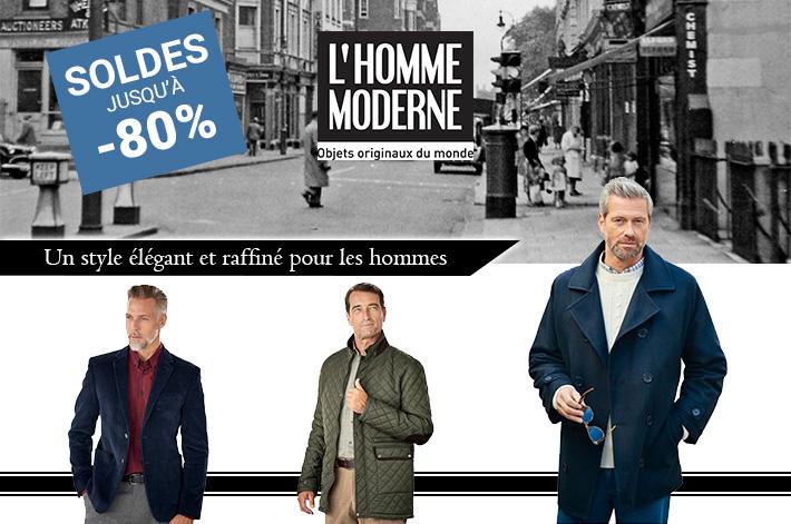 L'HOMME MODERNE : Le style pour les hommes jusqu'à 80%