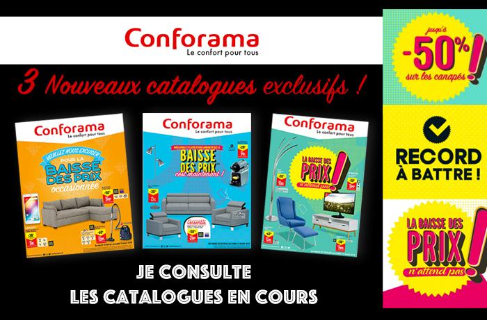 Conforama // 3 Catalogues à feuilleter pour profiter des petits prix !