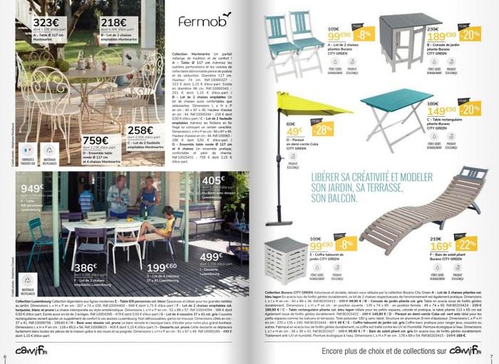 Camif : nouveau catalogue collection Jardin 2018