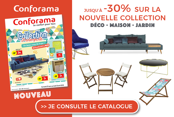 Conforama Nouveau Catalogue Collection Printemps été 2018