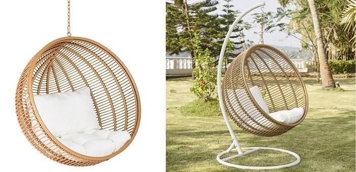 awesome fauteuil suspendu en rsine tresse maisons du monde with fauteuil suspendu resine tressee. Black Bedroom Furniture Sets. Home Design Ideas