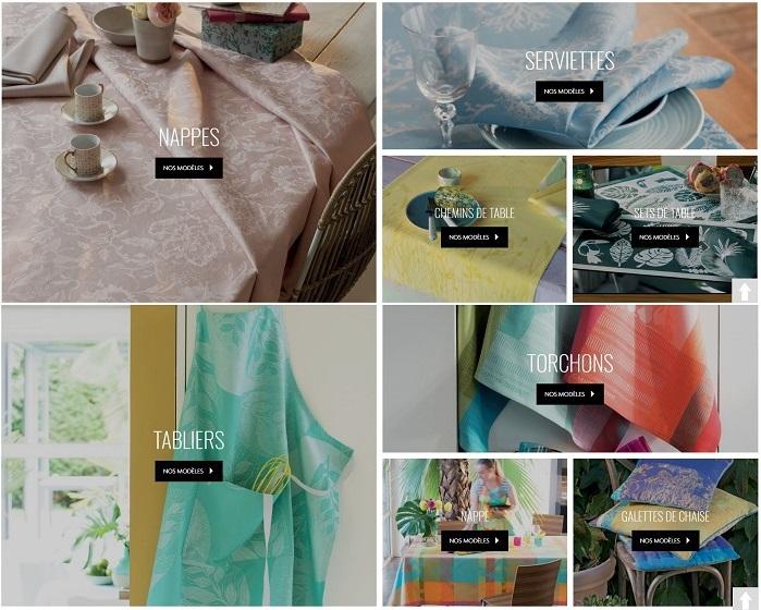 Cliquez ici pour voir les colelctions de linge de table Garnier Thiebaut