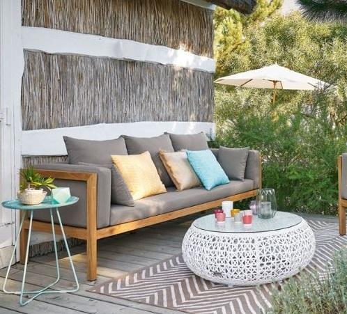 Accéder au canapé de jardin vintage Maisons du Monde