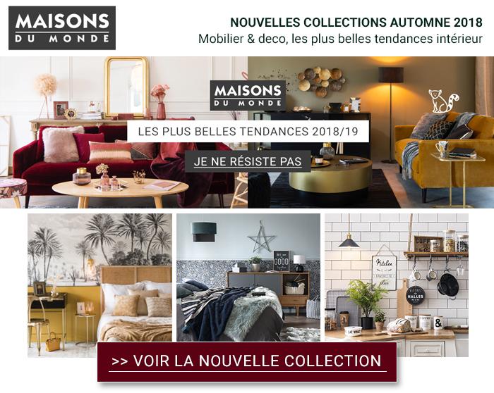 maisons du monde nouvelle collection automne hiver 2018. Black Bedroom Furniture Sets. Home Design Ideas