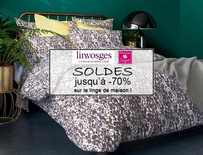 Linvosges, Françoise Saget : jusqu'à -70% sur le linge de maison pendant les soldes d'hiver !