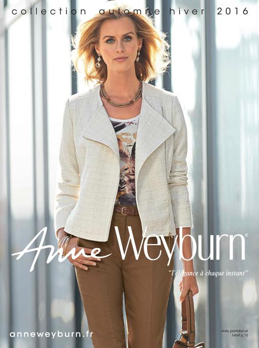 Anne Weyburn Découvrez Le Nouveau Catalogue Automne 2016