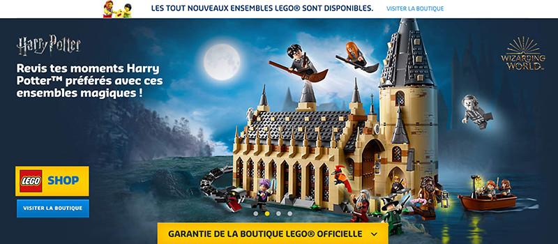 Cliquez ici pour accèder à l'univers Harry Potter en Lego