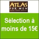 Atlas for Men : sélection prix chocs TOUT à moins de 15€ !