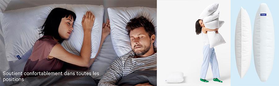 Cliquez ici pour voir les oreillers Casper