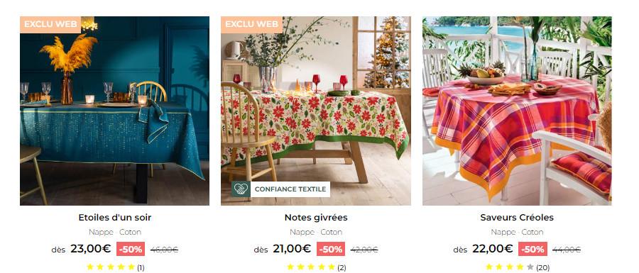 Découvrez la collection de linge de table Françoise Saget
