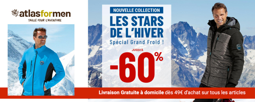 ATLAS FOR MEN - DESTOCKAGE D'HIVER JUSQU'A -60%